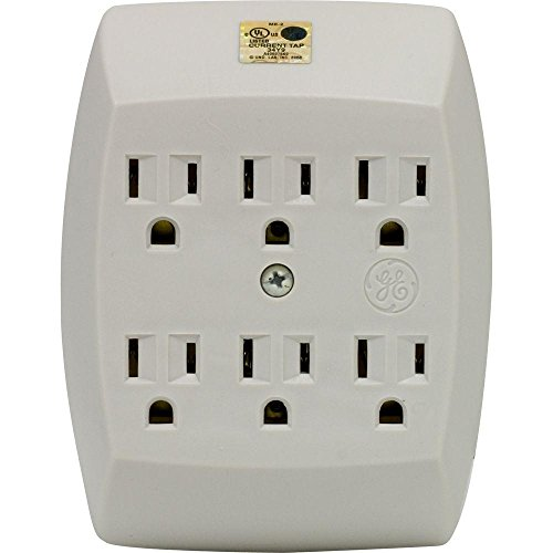 15- Amp125-Volt AC 6-Outlet Grounded Adapter- Wall Almod
