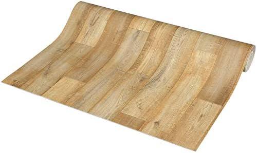 [スポンサー プロダクト]ラグリエ アンティーク調 フロアマット イノセンスベージュ 約90×100cm 床保護シート 木目