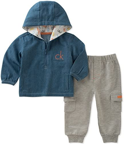 [Sponsored] Calvin Klein Baby Boys 2 Pieces Pullover Pant Set