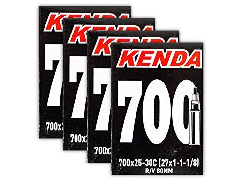 Kenda 700x25-30c 80mm PV Road Bike Inner Tubes - 4 Pack