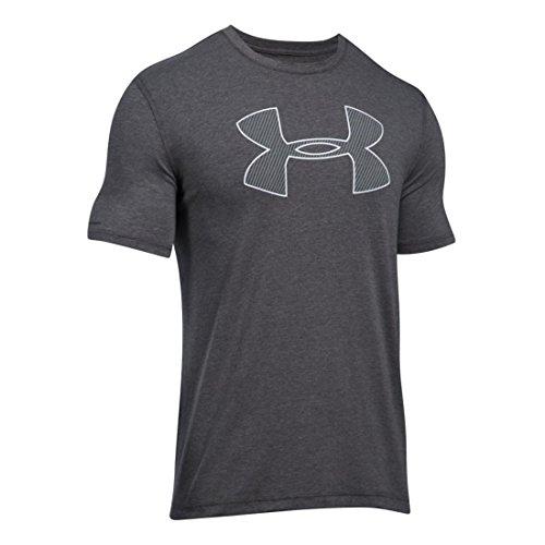 Men's Under Armour Big Logo Short Sleeve, Carbon Heather/White, X-Large ()