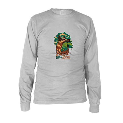 Super Mutant Dog - Herren Langarm T-Shirt, Größe: S, Farbe: weiß