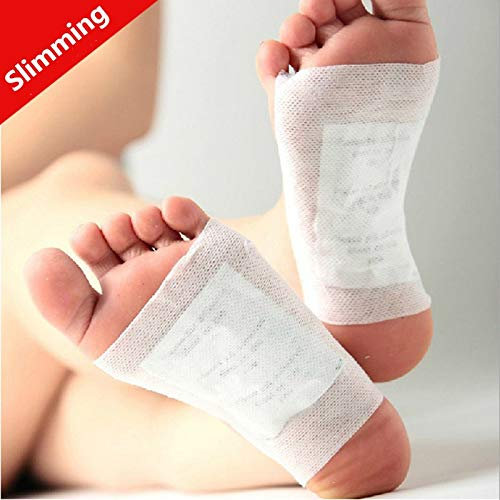DAVITU 100Pcs/Lot=50pairs Healthy Slimming Foot Patches for Beauty Care Helps Product Bamboo Det oxing Pads for Health Care - (Size: 100pcs)