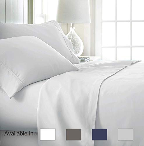 - Full-Xl sheets Extra Deep Pockets 15 Inch 500 Thread Count 4 Piece Sheet Set 100% Cotton Sheet Set White Solid Sheet,long staple cotton Bedsheet And Pillow Cover,Sateen Finish,Soft,Breadthable