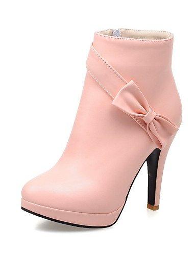 XZZ  Damenschuhe - Stiefel - Kleid   Lässig Lässig Lässig - Kunstleder - Stöckelabsatz - Rundeschuh   Modische Stiefel - Schwarz   Rosa   Beige B01L1GN756 Sport- & Outdoorschuhe Starke Hitze- und HitzeBesteändigkeit 654775