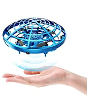 DEERC Drone Mini Toy Hand Operated Drone for Kids or Adults UFO Flying Ball Gifts for Boys and Girls with 5 Motion Sensor,2 Speed Mode, LED light,Anti-Collision,USB Charger,Hover Flight Outdoor Indoor