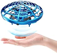DEERC Drone Mini Toy Hand Operated Drone for Kids or Adults UFO Flying Ball Gifts for Boys and Girls with 5 Mo