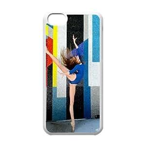 UNI-BEE PHONE CASE For Iphone 5c -Elegent Dancer,Ballet Dancing-CASE-STYLE 18