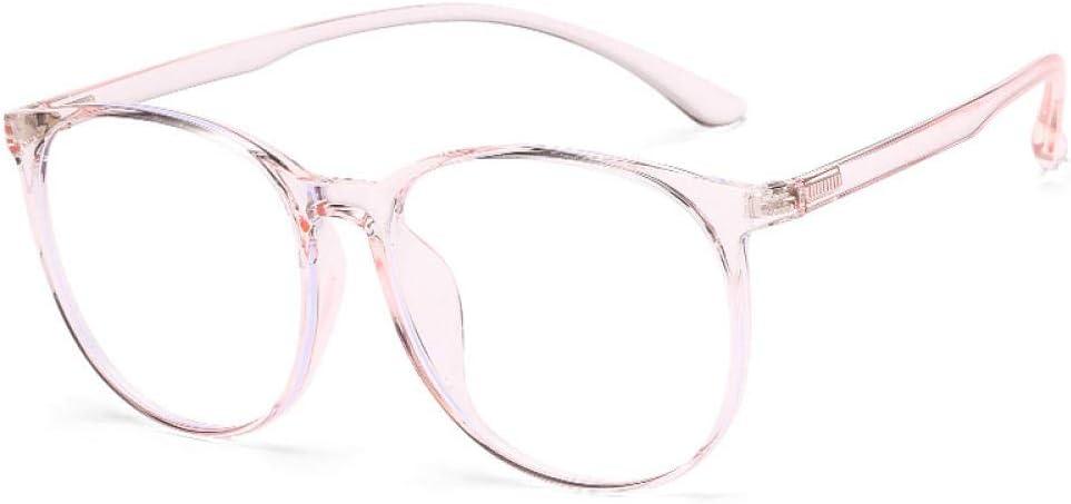 WEIDD Gafas De Filtro De Luz Azul, Gafas De Pantalla, Ojos De Juego Gafas De RadiacióN Anti-Azul Cara Redonda Tr90 Hembra Era De Color Rosa Delgado
