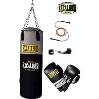 EXCALIBUR Boxset WORKOUT PRO mit Boxsack, 14 Unzen Boxhandschuhen, Wickelbandagen und Springseil