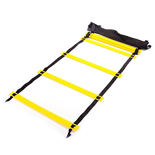 Agility Ladder, Nirvana Durable Training Ladders for Soccer, Speed, Football with Carrying Bag(6m 12 Rung)