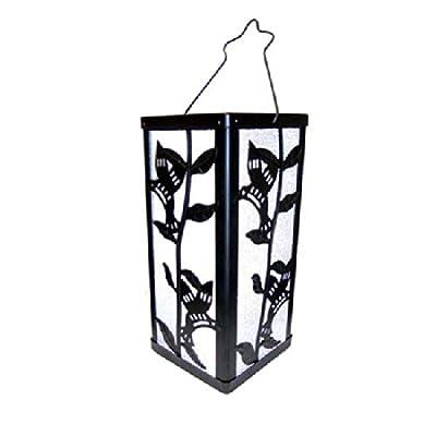 Tricod E51 Reflection Humming Bird And Plant Lantern Color Change Solar Light, Medium, 2-Pack