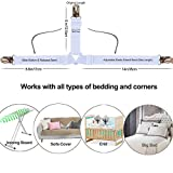 Bed Sheet Holders Straps Fasteners - 4 Pcs Triangle
