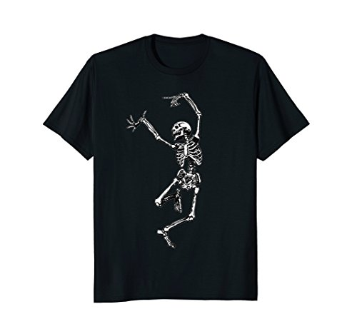 Mens Skeleton Halloween Tshirt - Dancing Skeleton tShirt for Hall Medium (Dance Hall Costumes Halloween)