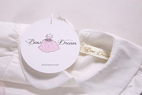 Bow Dream Vintage Rustic Baptism Lace Flower Girl's Dress Off White 5 by Bow Dream (Image #6)
