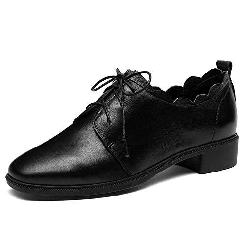 Loisir Chaussures de Black à Plat Femme Fond pour 8wTwz