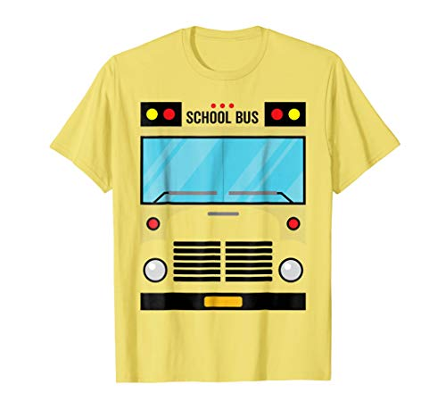 School Bus Costume Shirt Halloween Costume