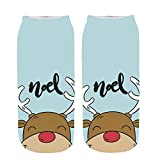 AMSKY Clearance! Winter Socks For Toddler Girls,3D Cartoon Funny Christmas Crazy Cute Amazing Novelty Print Ankle Socks,