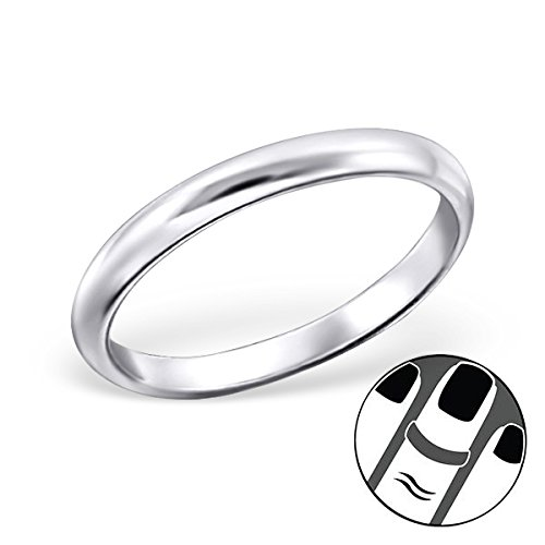 Pro Jewelry 925 Sterling Silver Plain Band Above Knuckle Ring Mid Finger Top 1.2MM 20725