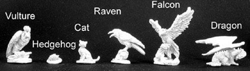Reaper Miniatures Familiar Pack VIII #02969 Dark Heaven Legends Unpainted Metal (Familiar Pack)