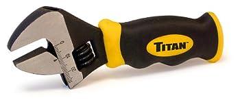 "Titan Tools 11060 8"" Stubby Adjustable Wrench"