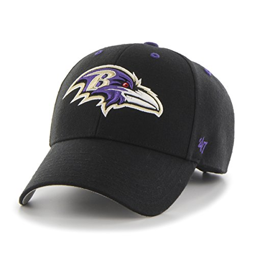 NFL Baltimore Ravens '47 MVP Adjustable Hat, One Size, Black