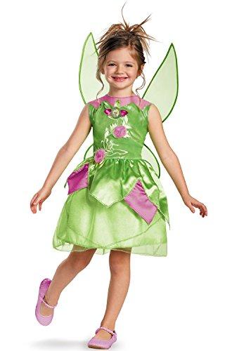 Kids Disney Princess Costumes (Disney Fairies Tinker Bell Classic Girls Costume, 4-6X)
