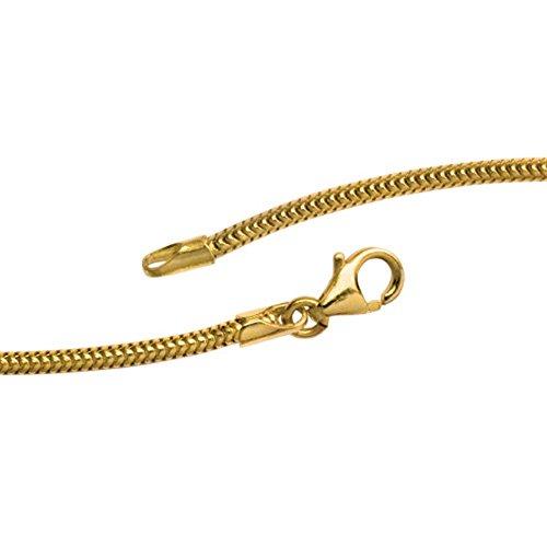 1,9mm Chaîne serpent ronde en or jaune 58550cm collier collier bijoux