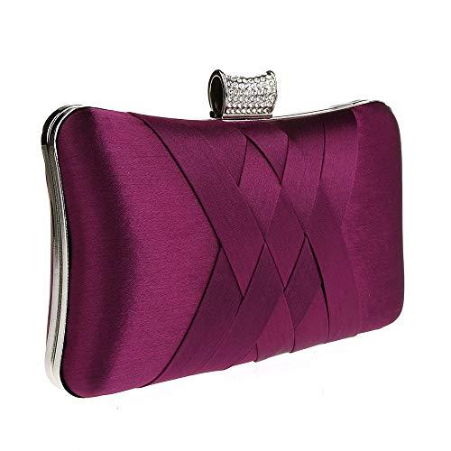 Chaîne Dos Diamant À Cabas sac Femme Embrayage Sac rouge Sac Main Soirée Enveloppe Strass femmes Femme Banquet Violet Kaiki 7xq4ESC5