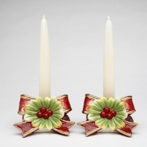 Musical Christmas Candle - Cosmos Gifts 10567 Victorian Harvest Taper Candle Holder, 2-5/8-Inch, Set of 2