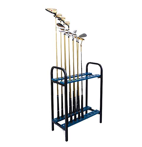 Crestgolf 18 Holes Golf Club Organizers Golf Club Display Shelf Gole Driver Rack Blue, Metal by Crestgolf
