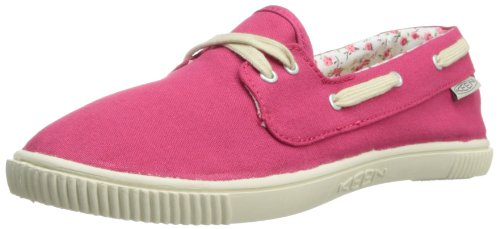 KEEN Women's Maderas Boat Shoe,Rose Red,8.5 M US