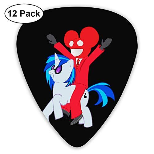 ElijahO Deadmau5 My Little Pony Celluloid Guitar Picks Plectrums (12 Pack) for Electric Guitar, Acoustic Guitar, Mandolin, and Guitar -