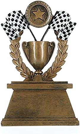 Racing Plaques 5 x 7 Show Stopper Checkered Flags Trophy Plaque with Custom Engraving