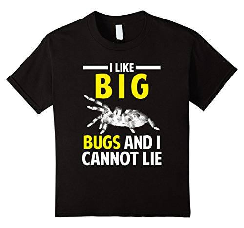 Kids FUNNY I LIKE BIG BUGS AND I CANNOT LIE T-SHIRT Spider Gift 4 Black