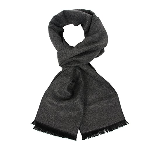 Long Cotton Scarf for Men - Warm Fringe Plaid Scarves With Luxurious Gift Box
