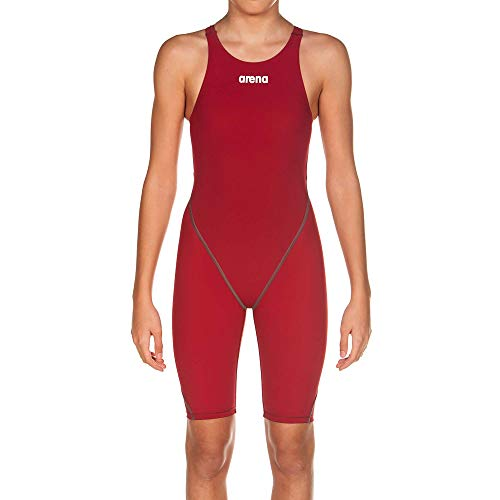 Arena Powerskin ST 2.0 Girl's Open Back Youth Racing Swimsuit, Deep Red, 28 (Arena Suit Competition)