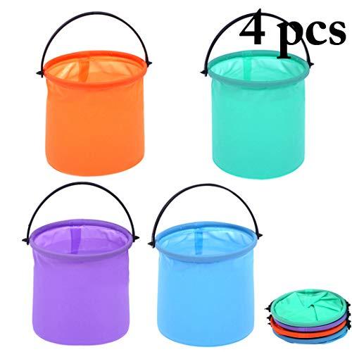 Joyibay 4PCS Brush Washer Collapsible Folding Bucket Brush Cleaning Bucket (Random Color) ()