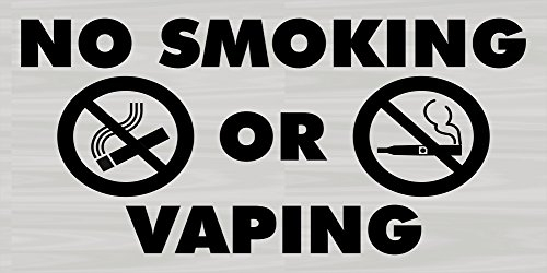 - Imprint 360 Premium No Smoking / No Vaping Sign, 6