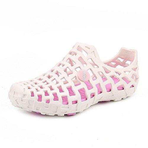 Xing Lin Sandalias De Hombre Cueva De Verano Zapatos 36 Beach 37 Hombres Baño Baño Plástico El Plástico Zapatos Zapatos Zapatillas Sandalias White pink
