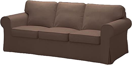 IKEA Ektorp 3-Seat Sofa Couch Cushion Slipcover Replacement Part Lofallet Beige