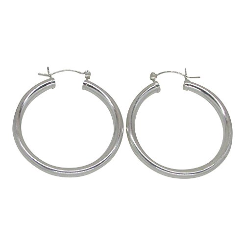 Sterling Silver Thick Earrings Click Down
