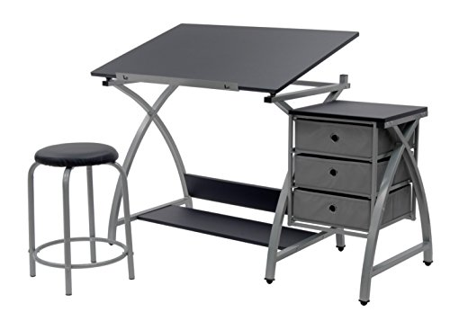 Art Furniture - SD Studio Designs Studio Designs 2 Piece Comet Art, Hobby, Drawing, Drafting, Craft Table with 36