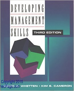 Developing Management Skills 3rd edition by Whetten, David A.; Cameron, Kim S. published by Harpercollins College Div Paperback