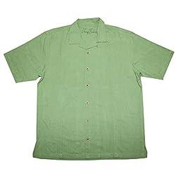 Tommy Bahama Diversified Mutual Fun Mens Light Weight Silk, Summer Camp Shirt M Green