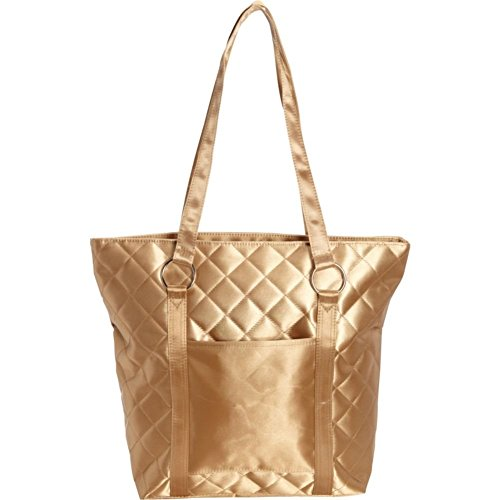 Bellino Savvy Quilted Fashion Tote, Gold
