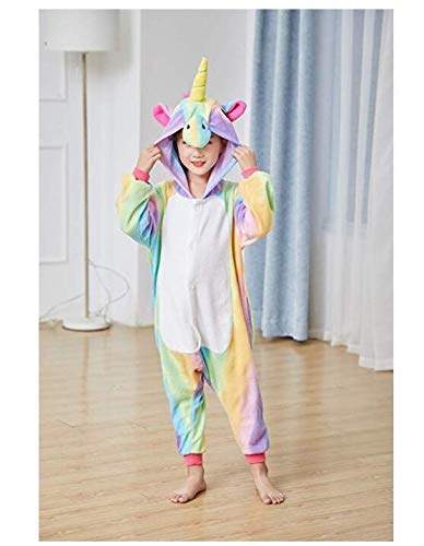 Girls One-Piece Kids Gold Horn Unicorn Pajamas Cartoon Animal Pink Licorne Onesie Sleepers Boy Costume Jumpsuit (130-140)        Amazon imported products in Pakistan