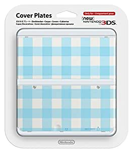 New Nintendo 3ds Cover Plates light blue check No.031