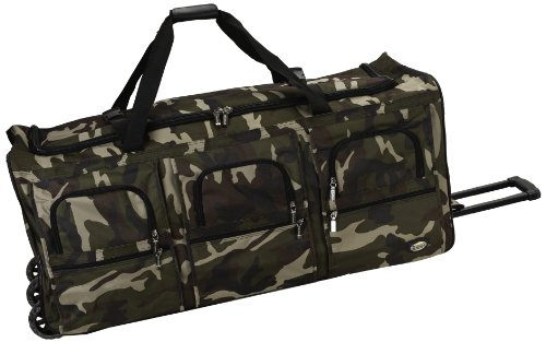 (Rockland Luggage 40 Inch Rolling Duffle Bag, Camouflage, X-Large)