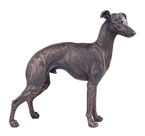 /Pet Gifts Stand out Home Decor H21/CM Prezents.com Grande Greyhound Dog Painted Bronzo Scultura in Resina/
